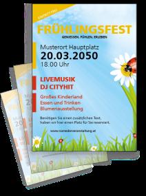 Fruehlingsfest Wiesenlandschaft gelb
