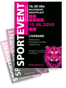 Fussballspiel Eye of the Tiger Pink