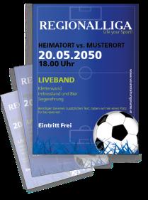 Fussballspiel Sportplatz Blau