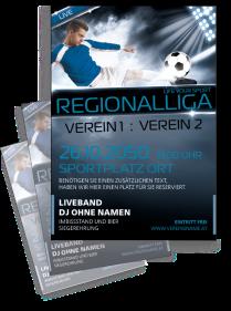 Fussballspiel Stadion Atmosphäre Blau
