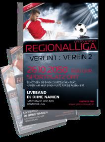 Fussballspiel Stadion Atmosphäre Rot