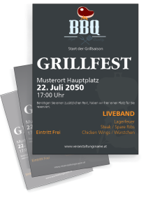Grillfest Barbecue Party Grau