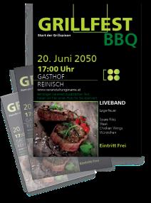 Grillfest Delicous BBQ Steak Gruen