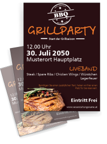 Grillfest Steak Braun