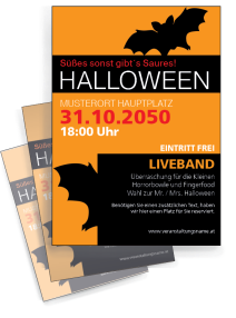 Halloween Party Fledermaus Orange