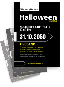 Halloween Party Simple Schwarz