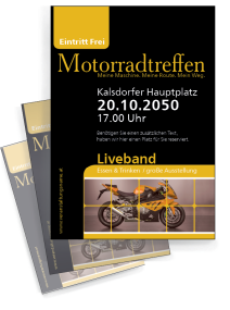 Motorsportevent Biker Meeting Gelb