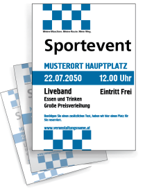 Motorsportevent Ziellinie Blau