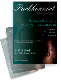 Musikfest Geige Tuerkis