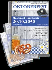 Oktoberfest Wiesnfest Blau