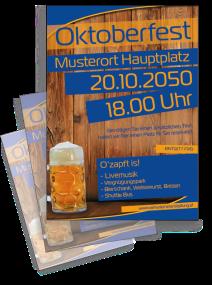 Oktoberfest Zünftig und Urig Blau