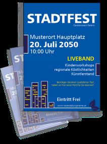 Stadtfest City Blau