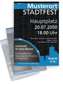 Stadtfest Jugendstiltapete Blau
