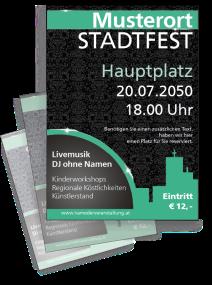 Stadtfest Jugendstiltapete Tuerkis