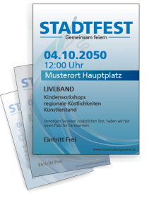 Stadtfest Modern Art Blau