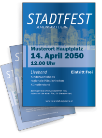 Stadtfest Retro City Blau