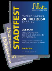 Stadtfest Skyline Blau