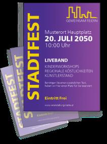 Stadtfest Skyline Violett
