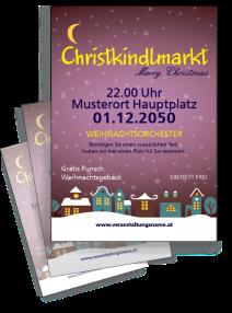Flyer Weihnachten Stadtlichter Violett