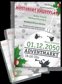 Flyer Weihnachten Zweig Weiss