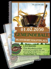 Flyer Ball Instrumente Gruen A4