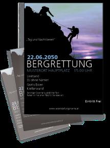 Flyer Bergrettung Blau