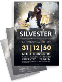 Flyer Silvester Milady Orange
