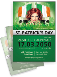 Flyer St. Patricks Day Irland A4 Gruen