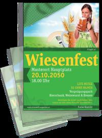 Flyer Wiesenfest Dirndl A4 Gruen