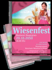 Flyer Wiesenfest Dirndl A4 Pink