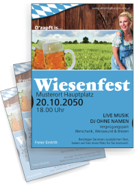 Flyer Wiesenfest German A4 Blau