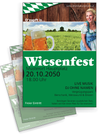 Flyer Wiesenfest German A4 Gruen