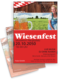 Flyer Wiesenfest German A4 Rot