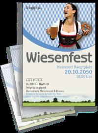 Flyer Wiesenfest Kornfeld A4 Blau