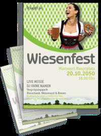 Flyer Wiesenfest Kornfeld A4 Gruen