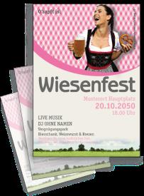Flyer Wiesenfest Kornfeld A4 Pink