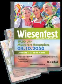 Flyer Wiesenfest Maedels A4 Gruen