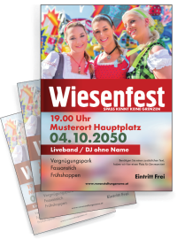 Flyer Wiesenfest Maedels A4 Rot