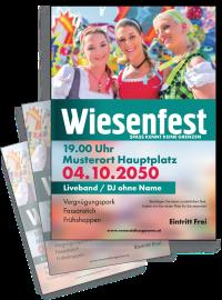 Flyer Wiesenfest Maedels A4 Tuerkis