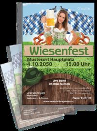Flyer Wiesenfest Tracht A4 Gruen