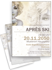 Flyer Apres Ski Eiskoenigin Gold A4