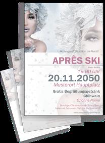 Flyer Apres Ski Eiskoenigin Silber A4