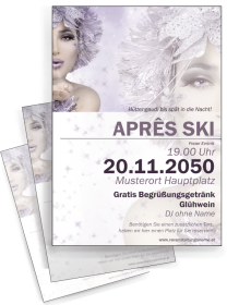 Flyer Apres Ski Eiskoenigin Violett A4
