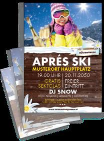 Flyer Apres Ski Huettn Gelb A4