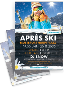 Flyer Apres Ski Huettn Orange A4