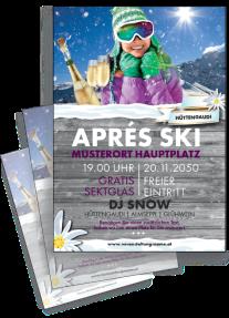 Flyer Apres Ski Huettn Violett A4