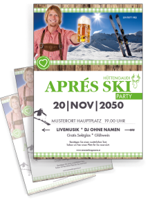 flyer-apres-ski-rustical-party-gruen-a4-zweiseitig